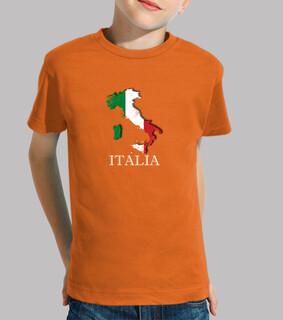 CAMISETA ITALIA KID MAPA 3D BANDERA NOMBRE