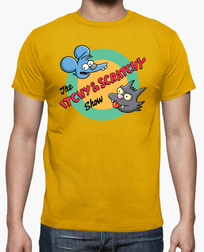 Camiseta itchy scratchy Rasca pica tv