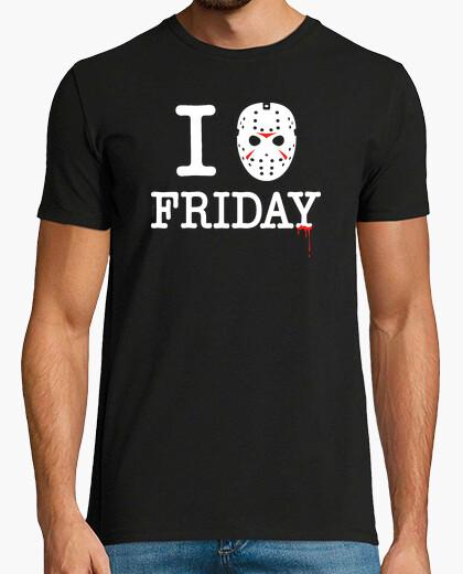 Camiseta Jason loves friday retro