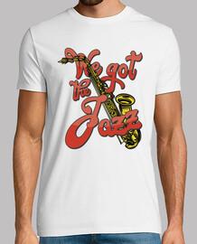 Camiseta Jazz Music Saxofón Retro