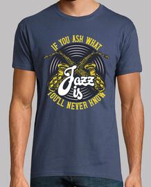 Camiseta Jazz Music Saxofón Vintage