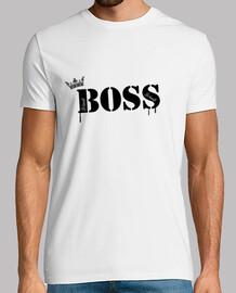 camiseta, jefe blanco especial