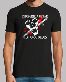 Camiseta Juego de Rol Dungeons Dragons RPG orco