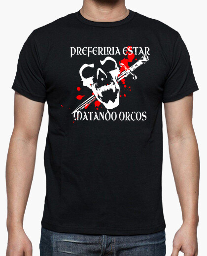 Camiseta Juego de Rol Dungeons Dragons RPG orco
