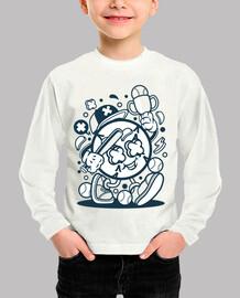 Camiseta Juvenil Cartoon Baseball Divertida