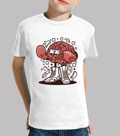 Camiseta Juvenil Cartoon Cerebro Boxeador