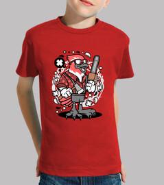Camiseta Juvenil Cartoon Pájaro Leñador