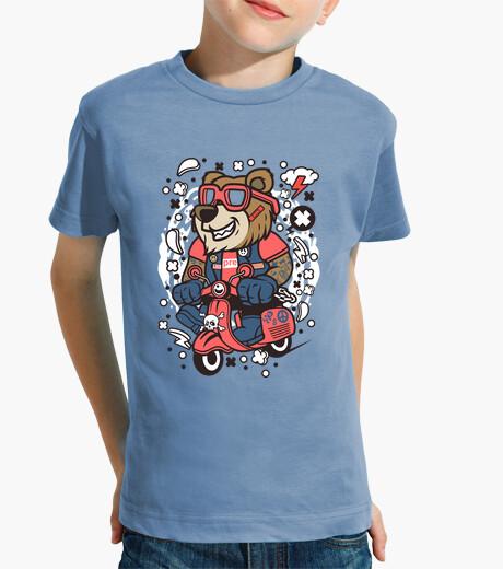 Ropa infantil Camiseta Juvenil Cartoon Scooter Oso