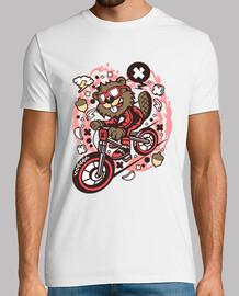 Camiseta Juvenil Castor en Bicicleta Divertidas