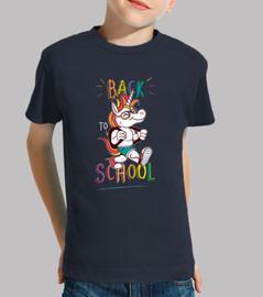 Camiseta juvenil divertida de regreso a la escuela Unicornio