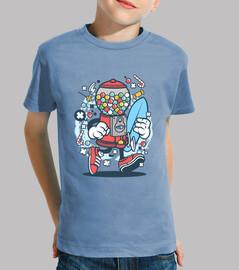 Camiseta Juvenil Máquina de Golosinas Candy