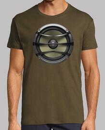 Camiseta Kaki Altavoz de diseño exclusivo