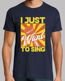 Camiseta Karaoke Cantantes Frases Retro