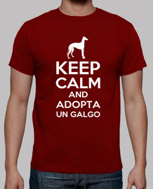 Camiseta Keep calm and adopta un galgo