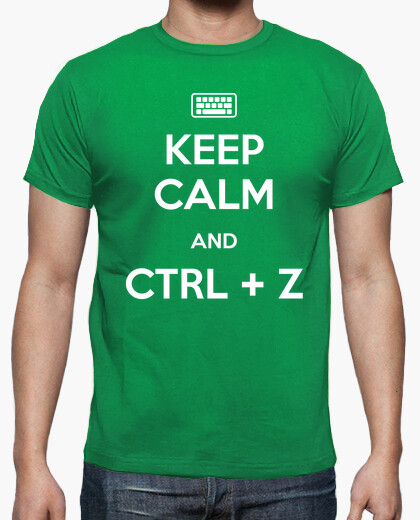Camiseta Keep Calm and Ctrl + Z
