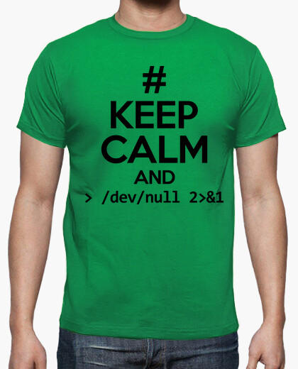 Camiseta Keep calm and /dev/null