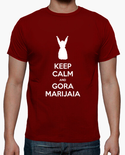 Camiseta KEEP CALM and GORA MARIJAIA (rojo para mutiko)