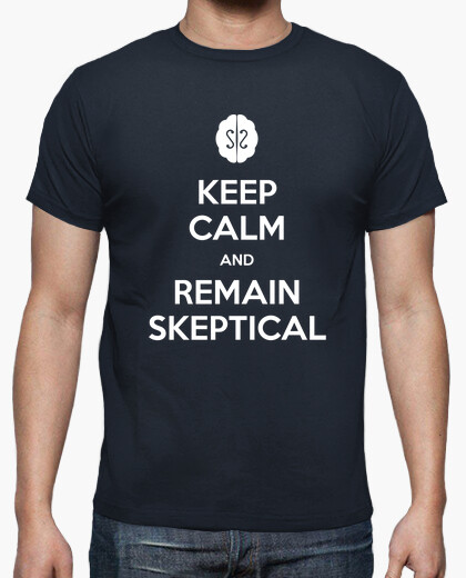 Camiseta Keep calm and remain skeptical - Chico