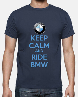 CAMISETA KEEP CALM AND RIDE BMW