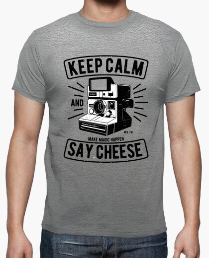 Camiseta Keep Calm and Say Cheese