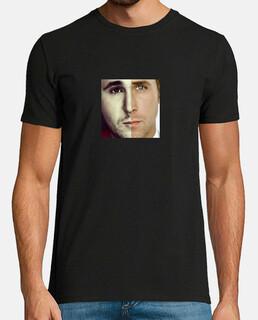 Camiseta Kiko Rivera + Ryan Gosling, manga corta, negra, calidad extra