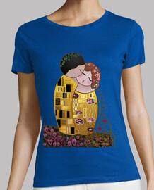 Camiseta Kokeshi El Beso estilo Klimt