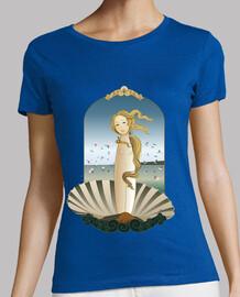 Camiseta Kokeshi Venus estilo Botticelli