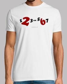 camiseta kurz 1,2,3..5,6,7 farbe