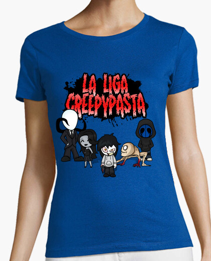 Camiseta LA LIGA CREEPYPASTA MUJER MANGA CORTA