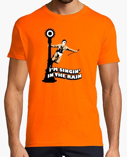 Camiseta La naranja mecánica cantando bajo la lluvia