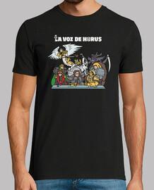 Camiseta La Voz de Horus staff (oscura)