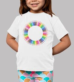 Camiseta Lapices de colores