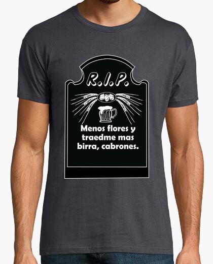 Camiseta lapida cerveza