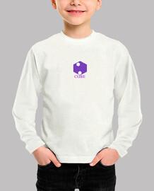 Camiseta larga Blanco cubo