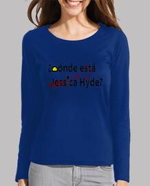 Camiseta Larga Mujer Dónde está Jessica Hide