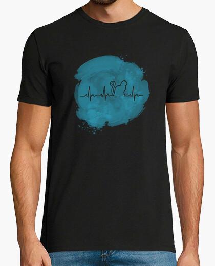Camiseta Latidos gato azul