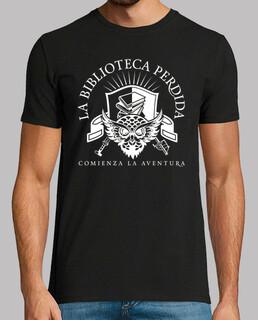 Camiseta LBP - Hombre, estilo retro, negra y blanca