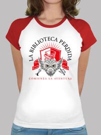 Camiseta LBP - Mujer, estilo béisbol, blanca y roja