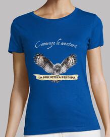 Camiseta LBP - Mujer, manga corta, gris oscuro, calidad premium