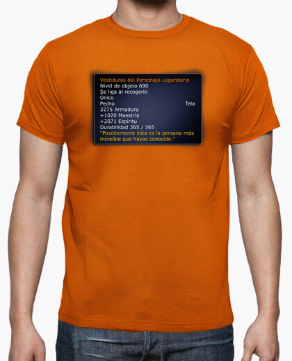 Camiseta Legendaria Stats de World of Warcraft