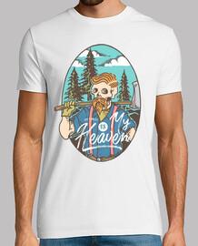Camiseta Leñador Vintage Trabajo Duro