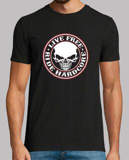 camiseta live - freeride- hardcore