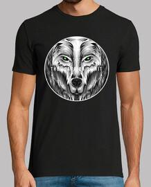 Camiseta Lobo Feroz Animal Salvaje Retro Vintage Animales Naturaleza