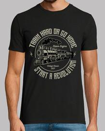 Camiseta Locomotoras Trenes Retro Vintage