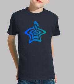 Camiseta logo estrella niños azul oscuro