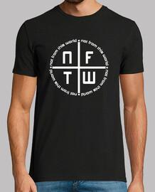 Camiseta Logo NFTW negra hombre