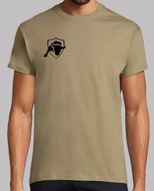 Camiseta Logotipo, manga corta, caqui, calidad extra