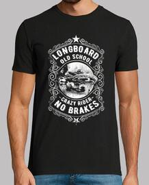Camiseta Longboard Monopatín Retro