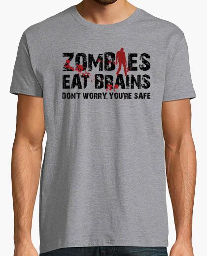 Camiseta Los zombies comen cerébros, estás a salvo