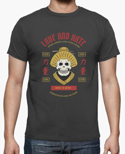 Camiseta Love and Hate - artmisetas.com - Japon